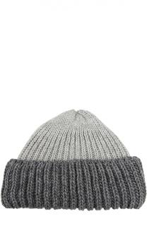 Вязаная шапка с контрастным отворотом Artiminesi