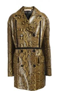 Пальто кожаное Marni