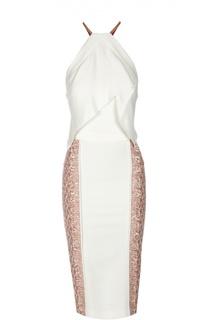 Облегающее платье с разрезом и декоративной отделкой Roland Mouret