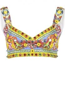 Топ-бюстье с декоративной отделкой Dolce & Gabbana