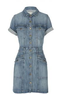 Джинсовое мини-платье с коротким рукавом Current/Elliott