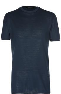 Хлопковая футболка с круглым вырезом Ermenegildo Zegna