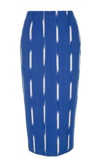 Юбка-карандаш с оборкой и ярким принтом Stella Jean