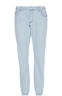 Легкие джинсы с контрастной отстрочкой Scissor Scriptor