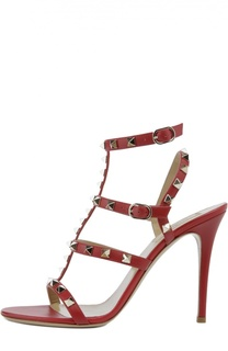 Кожаные босоножки Rockstud на шпильке Valentino