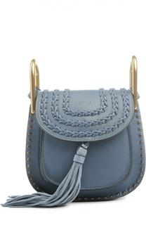 Кожаная сумка Hudson mini с плетением и металлическим декором Chloé