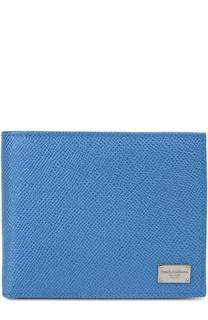 Кожаное портмоне с логотипом бренда Dolce & Gabbana