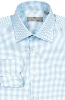 Хлопковая рубашка в клетку Canali