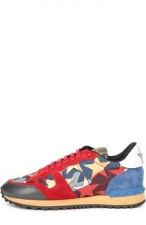 Комбинированные кроссовки Starstudded с принтом Valentino