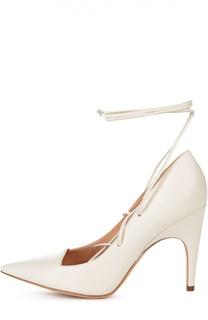 Кожаные туфли Opera на шнуровке Derek Lam