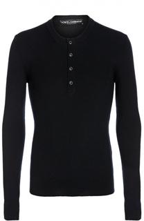 Джемпер из шерсти тонкой вязки с круглым вырезом Dolce & Gabbana