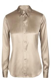 Шелковая приталенная блуза Ralph Lauren