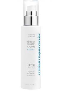 Сухое масло для волос и тела с экстрактом прозрачно-белой икры SPF30 Miriamquevedo