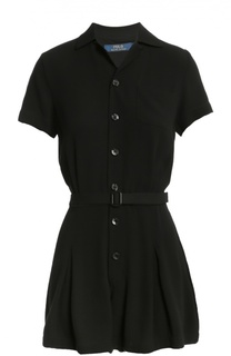 Мини комбинезон-рубашка с поясом Polo Ralph Lauren
