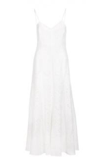 Кружевное платье-макси на бретельках Polo Ralph Lauren