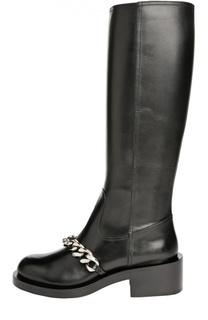 Кожаные сапоги с массивной цепью Givenchy