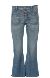 Укороченные расклешенные джинсы с необработанным краем Rag&Bone Rag&Bone