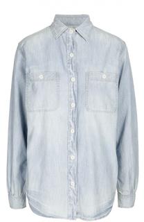 Джинсовая блуза прямого кроя с накладными карманами Denim&Supply by Ralph Lauren