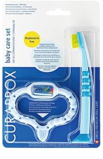 Набор: Голубой стимулятор для зубов и детская зубная щетка CKC42 Boy Curaprox