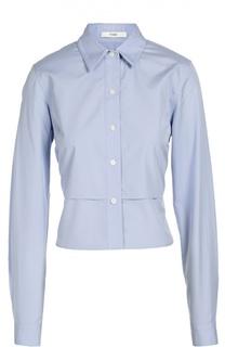 Укороченная хлопковая блуза прямого кроя Tome