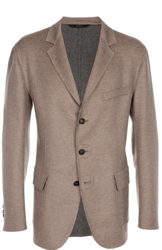 Однобортный  пиджак из смеси шерсти и шелка Brioni