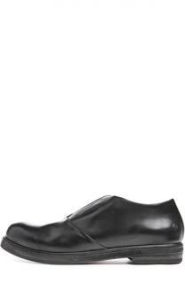 Кожаные ботинки на наборной подошве Marsell