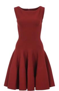 Приталенное мини-платье с вырезом-лодочка Alaia
