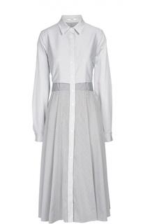 Хлопковое платье-рубашка в полоску с вырезом на спинке Tome