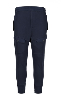 Хлопковые спортивные брюки с накладными карманами Diesel