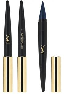 Средство для макияжа глаз 3 в 1 (карандаш-подводка-тени) Couture Kajal 03 YSL