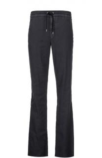 Спортивные брюки из смеси льна и хлопка Giorgio Armani