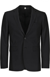 Шерстяной костюм с пиджаком на двух пуговицах Burberry