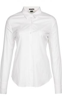 Приталенная хлопковая блуза Theory