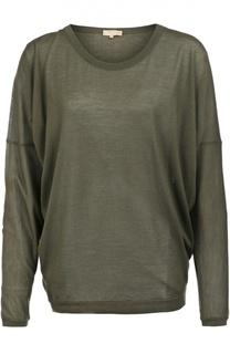 Полупрозрачный кашемировый пуловер свободного кроя с круглым вырезом Back Label