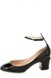Лаковые туфли Tan-Go с ремешком на щиколотке Valentino