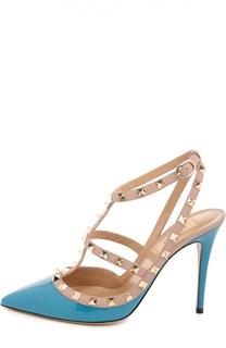 Лаковые туфли Rockstud на шпильке Valentino