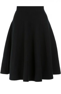 Вязаная юбка-миди А-силуэта Alexander McQueen