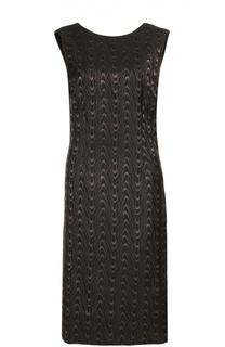 Платье прямого кроя с контрастным принтом и открытой спиной Dries Van Noten