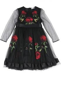 Платье с поясом Dolce & Gabbana