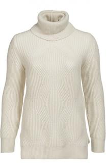 Кашемировый пуловер фактурной вязки с высоким воротником Colombo