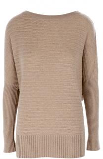 Удлиненный кашемировый пуловер со спущенным рукавом Ralph Lauren