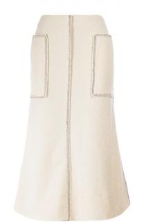 Расклешенная юбка-миди с накладными карманами By Malene Birger