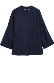 Вязаное пальто с декором Monnalisa