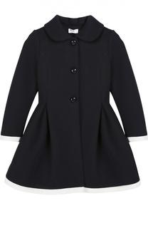 Приталенное пальто с отложным воротником Monnalisa