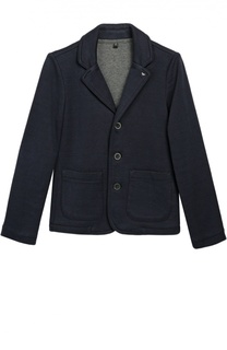 Однобортный пиджак джерси Giorgio Armani
