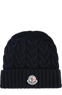 Шерстяная вязаная шапка Moncler