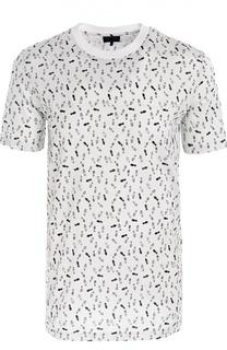 Хлопковая футболка с принтом Lanvin