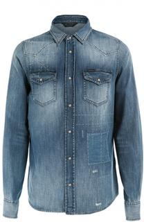 Джинсовая рубашка с вышивкой Diesel