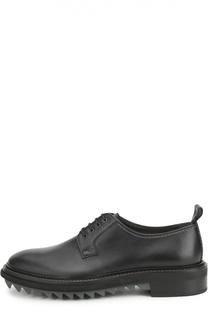 Кожаные туфли на рифленой подошве Lanvin
