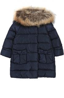 Пуховое пальто с меховой отделкой Il Gufo